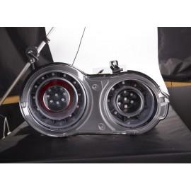 LED Heckleuchten chrom-schwarz Nissan GT-R