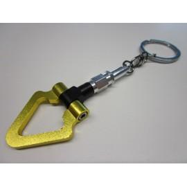 Alu Abschleppring Triangel Schlüsselanhänger Gelb