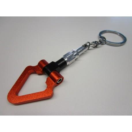 Alu Abschleppring Triangel Schlüsselanhänger Schwarz