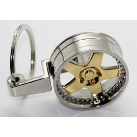 Schlüsselanhänger Tiefbett Felge Gold Stern