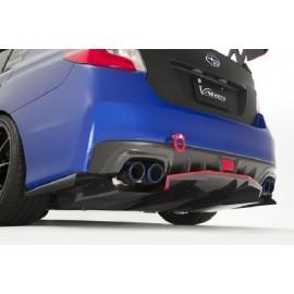 Carbon Auspuff Varis Style Hitzeschild Subaru Impreza STI 2014-