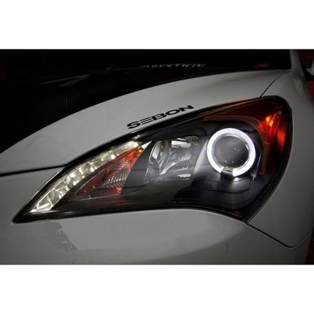 LED Scheinwerfer schwarz Angel Eyes Hyundai Genesis 09-