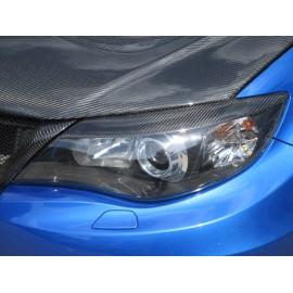 Scheinwerferblenden Carbon Subaru Impreza 2007- 2014 mit DTC