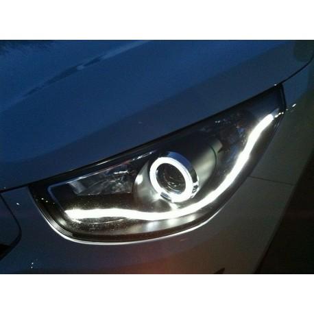 Scheinwerfer Hyundai IX35 schwarz mit Angel Eye