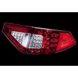 LED Heckleuchten rot-chrom Subaru Impreza WRX STI 2007- Hatchback