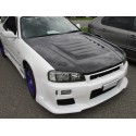 Carbon Motorhaube Ripp Style Nissan Skyline GTS R34