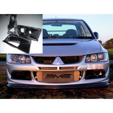 Carbon Luftführungen Frontstange Mitsubishi EVO 8