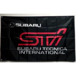 Subaru STI Fahne Schwarz